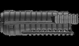 Цевье FAB DEFENSE FGR-3 для М4, 3 планки Пикатинни, черное