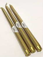 Свеча золотая металик длинная (30 см)