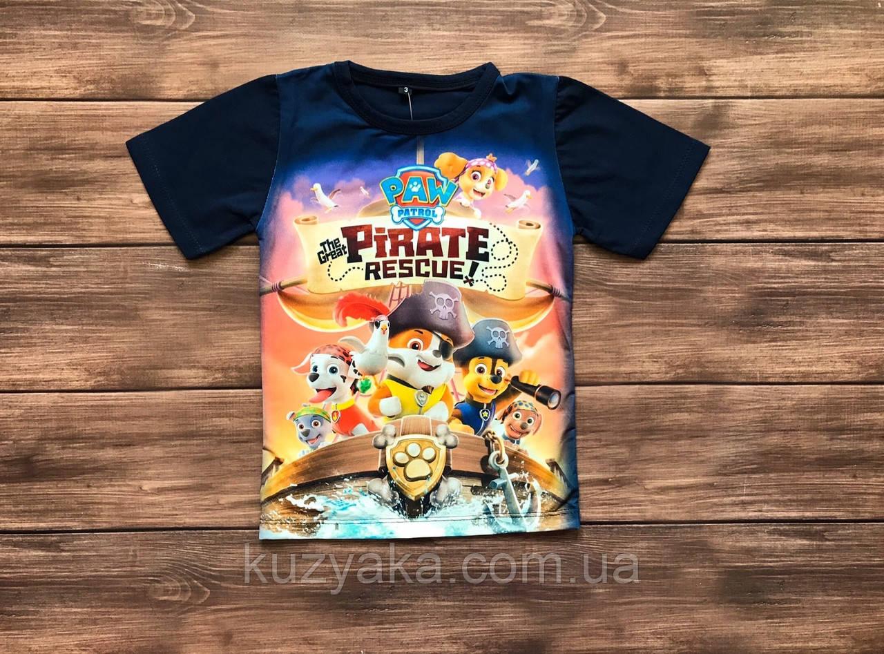 Детская футболка для мальчика Щенячий патруль на 1-10 лет
