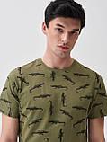 """Чоловіча футболка з принтом """"Алігатори"""", розмір М. Польща, фото 3"""