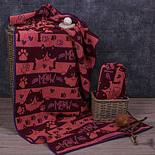 Полотенце махровое ТМ Речицкий текстиль, 67*150 см Мяу