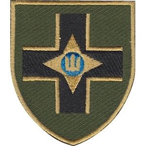 Шеврон 28 ОМБр  нашит на липучку