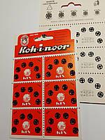 Кнопки для одягу пришивні металеві №1/2, 7 мм. Чорні  (комплект 36 кнопок) Чехія Koh-i-noor