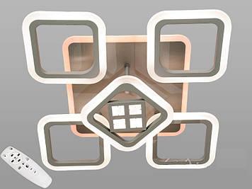Люстра потолочная светодиодная  с диммером 105W Серый