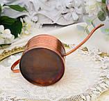 Винтажная медная лейка для цветов, лейка из меди, медь, Германия, винтаж, фото 8