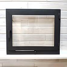 Дверца со стеклом для печи Hetta Mia 425*505мм с поддувом