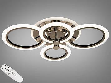 Люстра LED с диммером и RGB подсветкой, 60W Черный хром