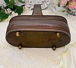 Старое медное кашпо - корзинка для двух цветочных горшков, медное кашпо, медь, Германия, винтаж, фото 8