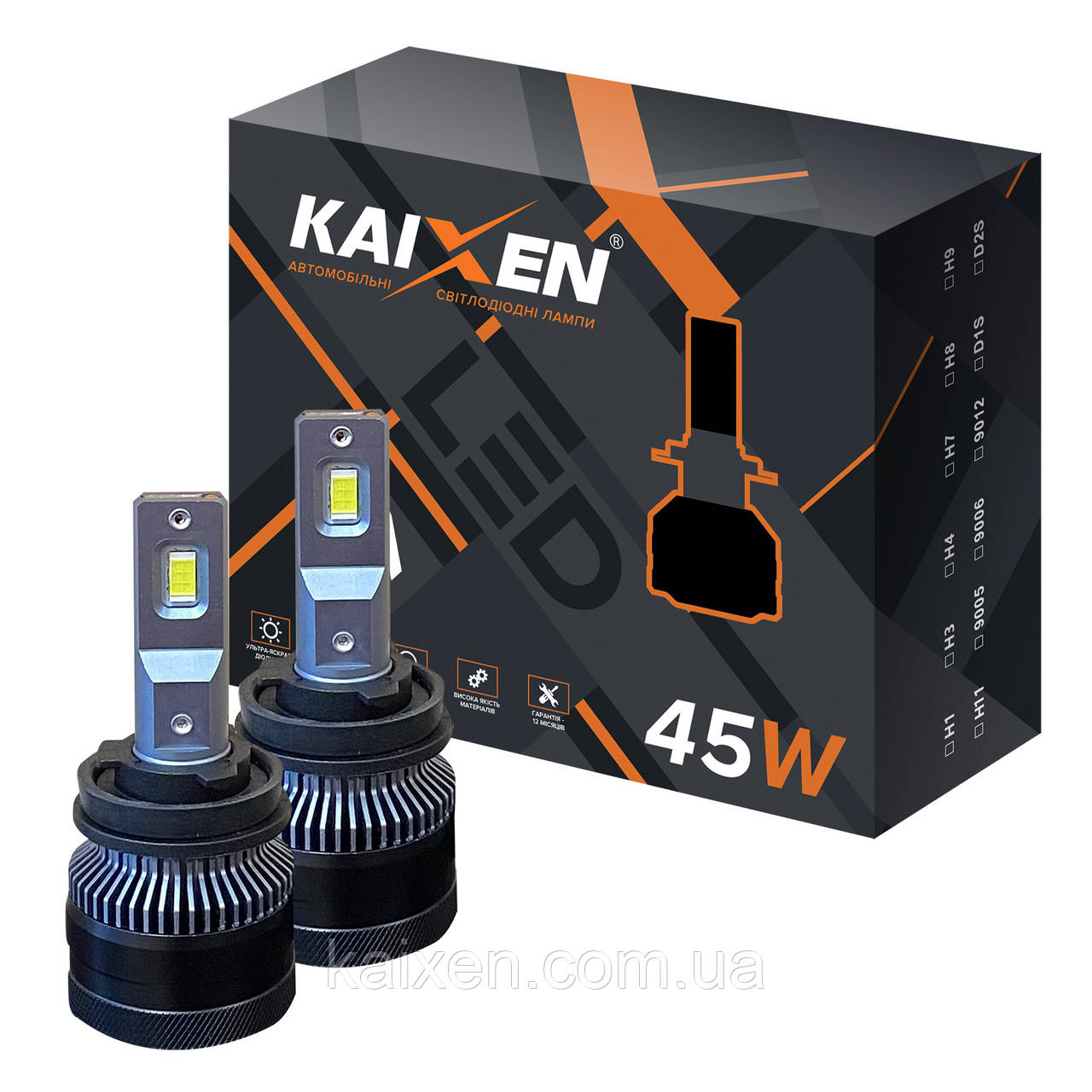 Світлодіодні лампи H11 KAIXEN K7 (45W-6000K-CANBUS)
