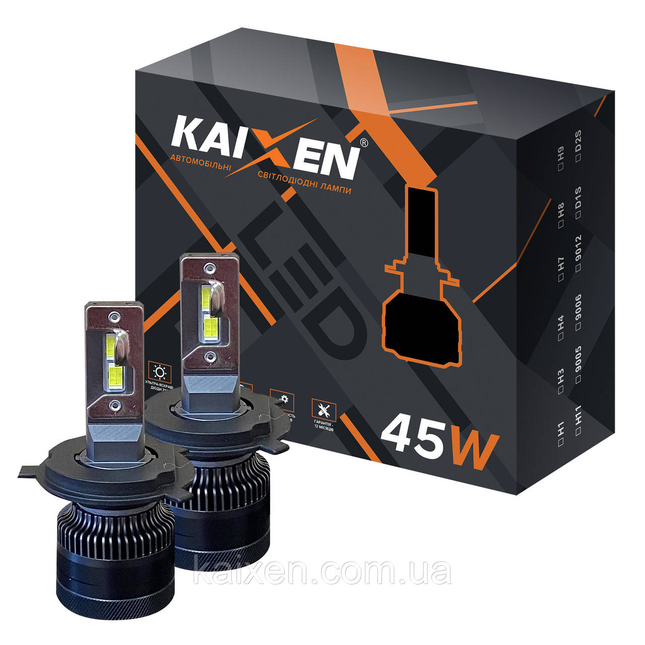 Світлодіодні лампи H4 KAIXEN K7 (45W-6000K-CANBUS)
