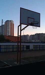 Баскетбольная стойка стационарная уличная с кольцом и антивандальной сеткой
