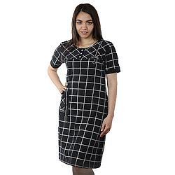Женское домашнее платье в клетку DI Color №6320, р.2XL-5XL