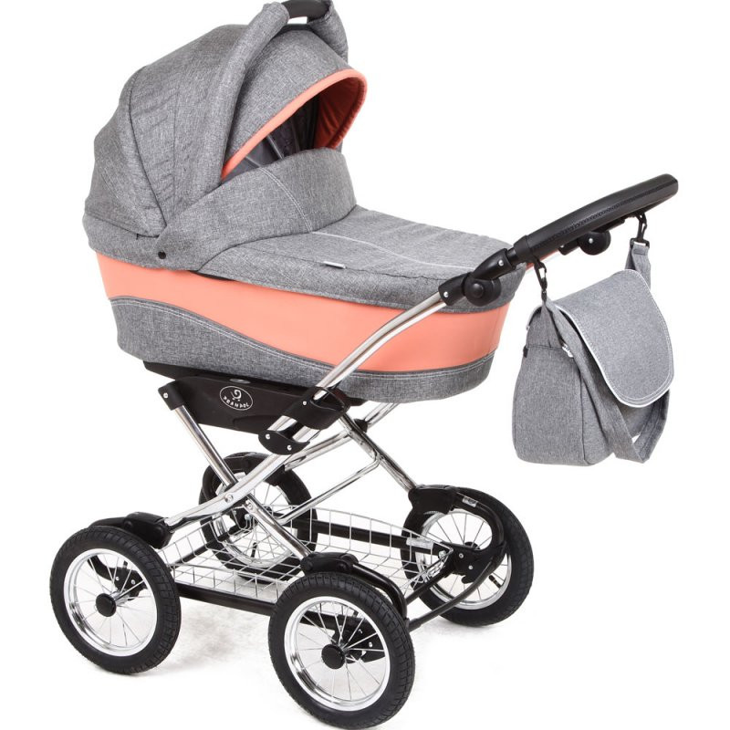 Детская коляска 3в1 Soft Line CHROME 04 кораловый