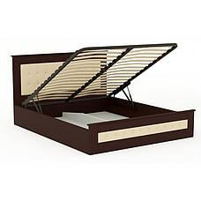 Ліжко дерев'яне з підйомним механізмом і м'яким узголів'ям Валенсія , ArtWood колір венге, фото 2