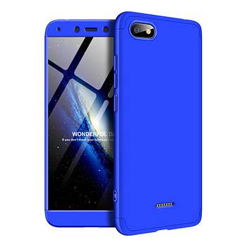 Пластиковая накладка GKK LikGus 360 градусов для Xiaomi Redmi 6A Синий