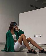 Женский  стильный  пиджак зеленый, 42-44
