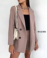Женский  стильный  пиджак беж, 42-44