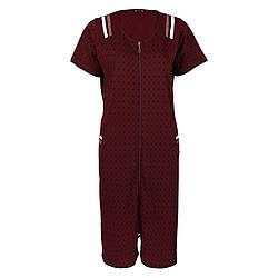 Легкий жіночий халат для весни і літа на блискавці DI Color №6407, р. 2XL-5XL, w35