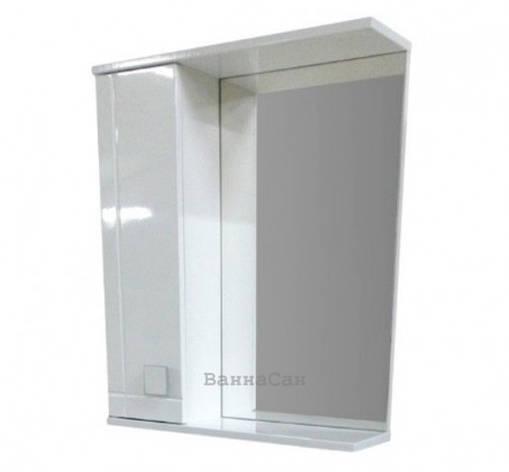 Зеркало с полкой для ванной 55 см ВанЛанд АЛЕКСАНДРИЯ Аз 3-55L, фото 2