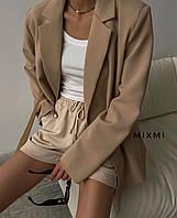 Женский  стильный  пиджак кофе с  молоком, 44-46