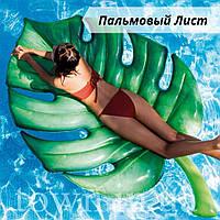 Надувной плот матрас intex ПАЛЬМОВЫЙ ЛИСТ 213x142 см пляжный для бассейна и плавания 58782