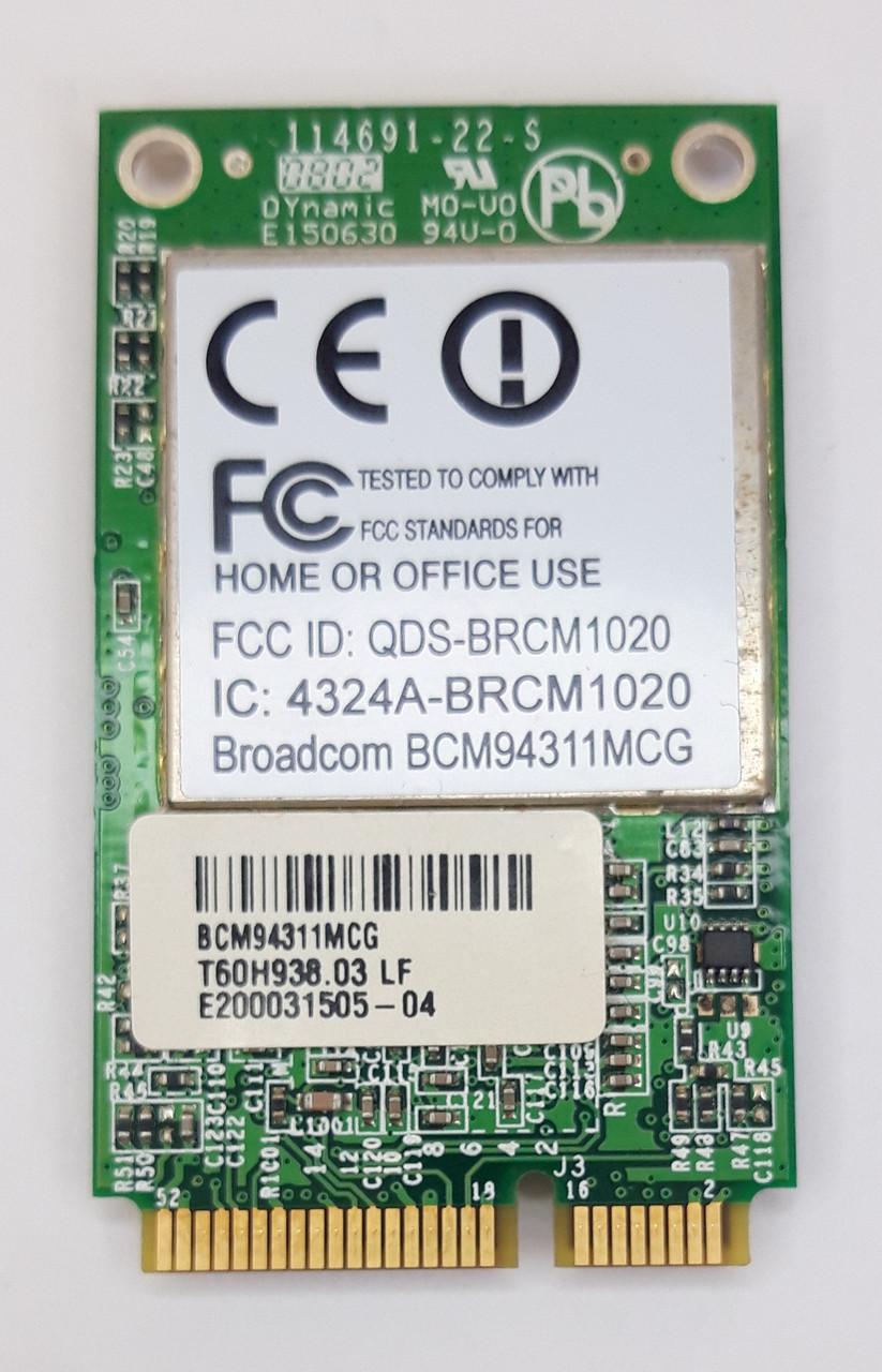 Універсальна карта Broadcom, WI-FI для ноутбука BCM94311MCG / BRCM1020 оригінал б.у.