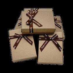Коробочка подарункова 90x70x25 Коричневий