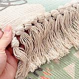 Безкоштовна доставка! Ретро богемний килимок ручної роботи з бахромою, фото 10