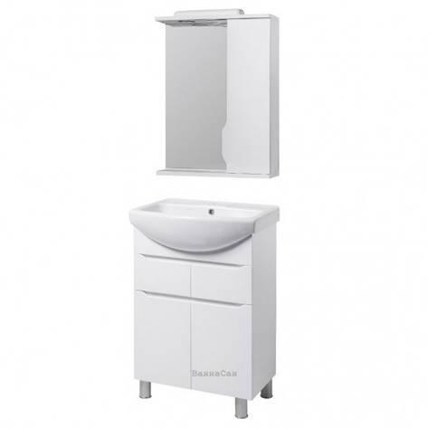Комплект мебели тумба с зеркалом в ванную 55 см Квел ВИСЛА 22220- 22205, фото 2