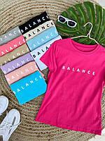 Женские футболки - оптом - 4980-30-мас - Стильная молодежная женская футболка из натурального хлопка