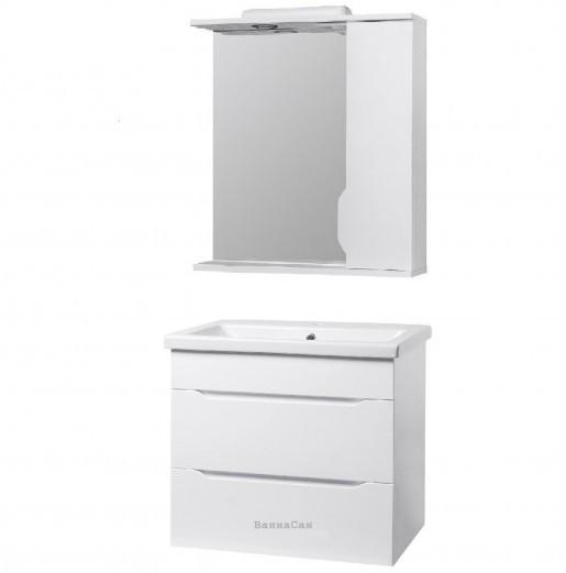 Комплект меблів тумба з дзеркалом у ванну 70 см праве Квел ВІСЛА 22227-22206