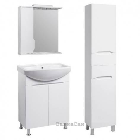 Комплект меблів ванний гарнітур 65 см з фурнітурою KRONAS КВЕЛ ВІСЛА 22217 - 18913 - 19872, фото 2