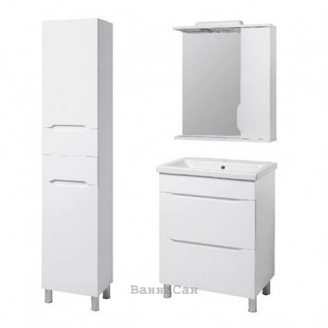Комплект меблів ванний гарнітур 70 см з білим корпусом КВЕЛ ВІСЛА 22226 - 22206 - 19872, фото 2