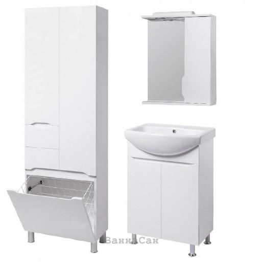 Комплект мебели ванный гарнитур 55 см с гарантией 24 месяца КВЕЛ ВИСЛА 22215 - 22205 - 22213