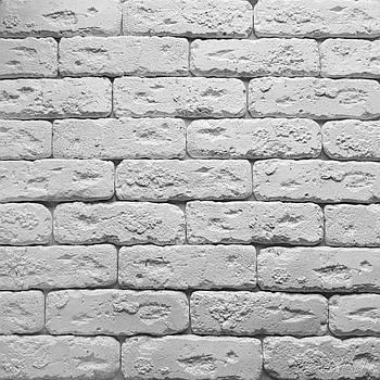 Гіпсова плитка Клінкер біла 210х60х15 (0,55 м2 в уп./44 шт.)