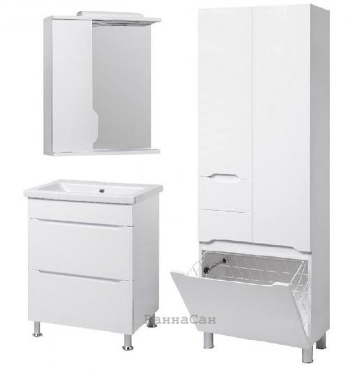 Комплект меблів ванний гарнітур 60 см з одним отвором для змішувача КВЕЛ ВІСЛА 22224 - 18965 - 22213