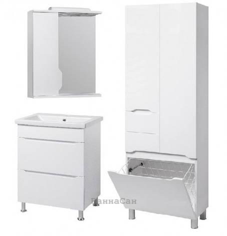 Комплект меблів ванний гарнітур 60 см з одним отвором для змішувача КВЕЛ ВІСЛА 22224 - 18965 - 22213, фото 2