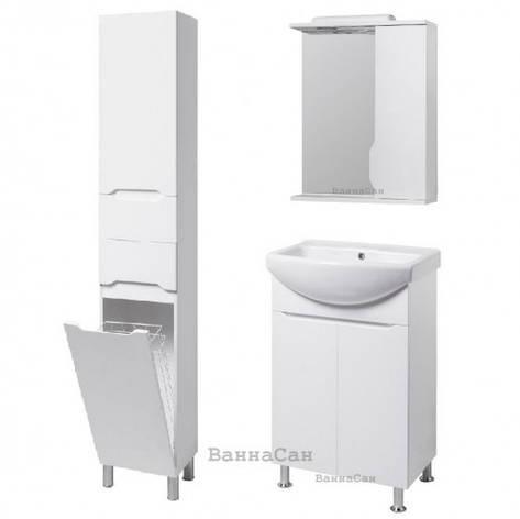 Комплект меблів ванний гарнітур 50 см із змішувачем по центру КВЕЛ ВІСЛА 22214 - 22204 - 22367, фото 2