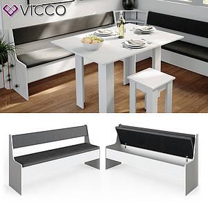 Лавка для кухонного уголка 167х42 Vicco Roman, белая
