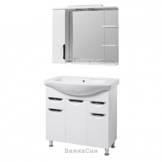 Комплект мебели для ванной тумба 85 см КВЕЛ ГРАЦИЯ 19481 - 18928