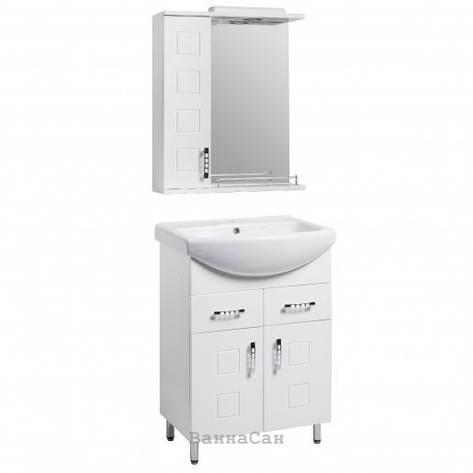Комплект мебели для ванной тумба 70 см с ручками скоба КВЕЛ КВАТРО 22233 - 21650, фото 2