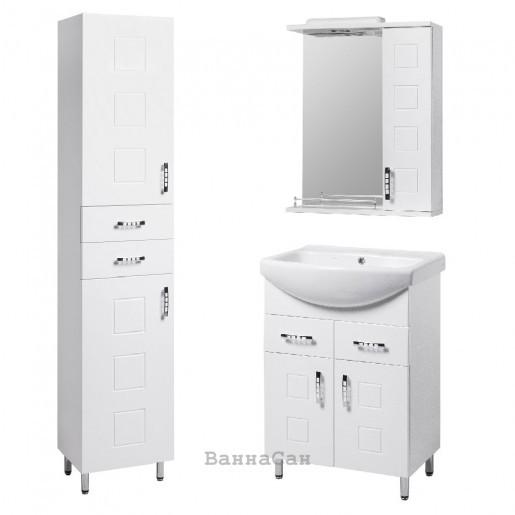 Комплект меблів ванний гарнітур 60 см з фрезою КВЕЛ КВАТРО 22232 - 21660 - 21841