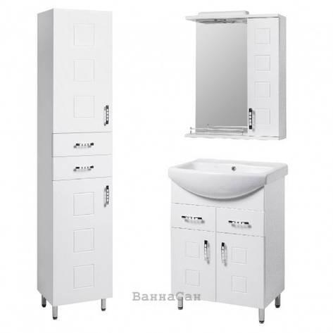 Комплект меблів ванний гарнітур 60 см з фрезою КВЕЛ КВАТРО 22232 - 21660 - 21841, фото 2