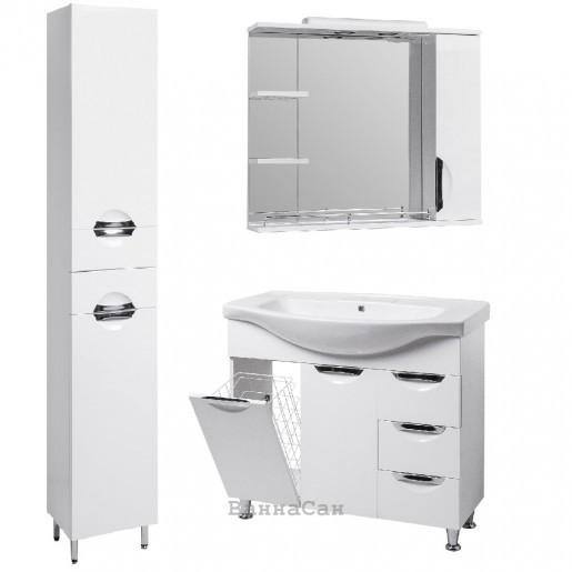 Комплект мебели ванный гарнитур 85 см со встроенным светильником КВЕЛ ГРАЦИЯ 19483 - 18982 - 19861