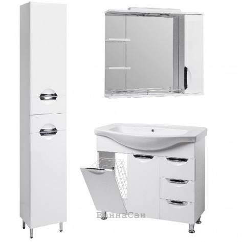 Комплект мебели ванный гарнитур 85 см со встроенным светильником КВЕЛ ГРАЦИЯ 19483 - 18982 - 19861, фото 2