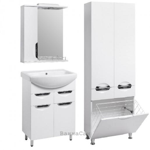 Комплект мебели ванный гарнитур 60 см небольшой КВЕЛ ГРАЦИЯ 19470 - 22383 - 21857