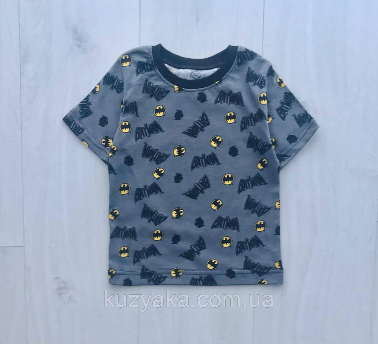 Детская футболка Бетмен для мальчика на рост 86-128 см