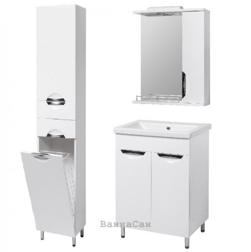 Комплект мебели ванный гарнитур 50 см эмаль Квант ГРАЦИЯ 19479 - 18958 - 22474