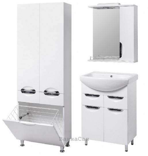 Комплект мебели ванный гарнитур 55 см с корзиной для белья КВЕЛЛ ГРАЦИЯ 19496 - 18930 - 21857