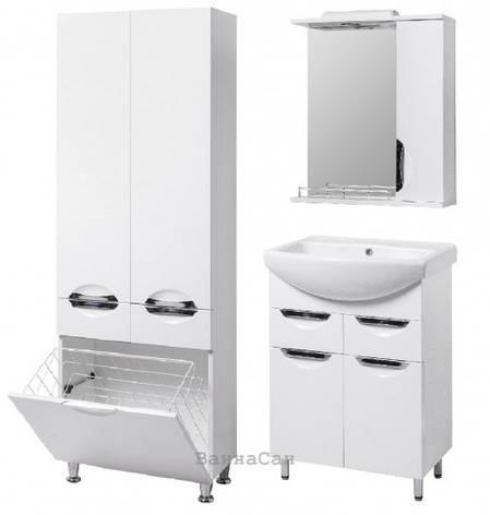 Комплект мебели ванный гарнитур 55 см с корзиной для белья КВЕЛЛ ГРАЦИЯ 19496 - 18930 - 21857, фото 2